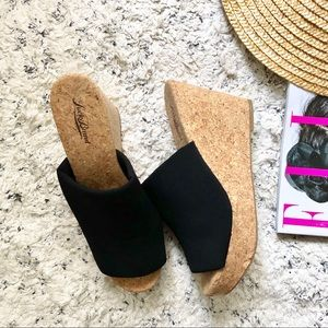 Lucky Brand Cork Wedges Size 8.5